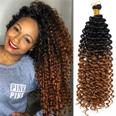 usa 14 quot curly wavy crochet twist braids synthetic ombre braiding hair extensions ebay