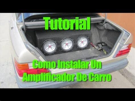 como conectar un lificador de carro tutorial como instalar un amplificador de carro youtube