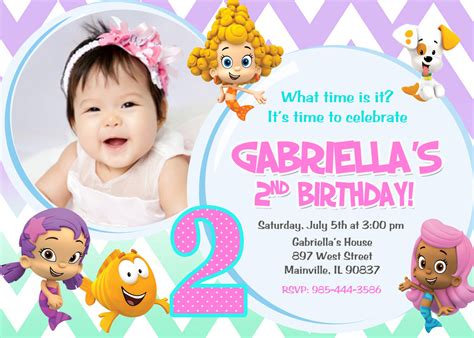 guppies invitations templates guppies birthday invitation digital file
