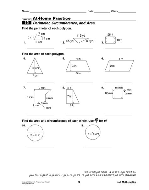 printable worksheets perimeter and area worksheets perimeter circumference and area worksheet