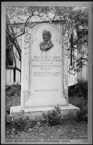 [Deaf Smith Monument in Richmond, Texas] - The Portal to