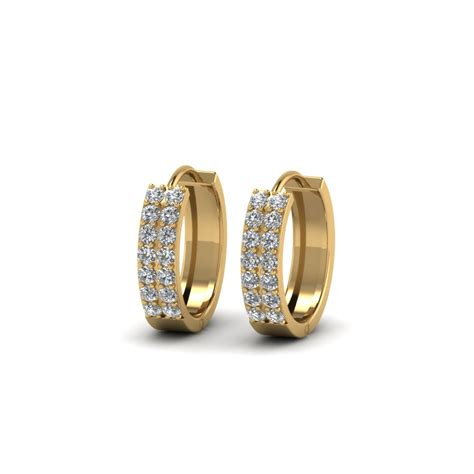 Hoop Earrings With wide hoop earring fascinating diamonds