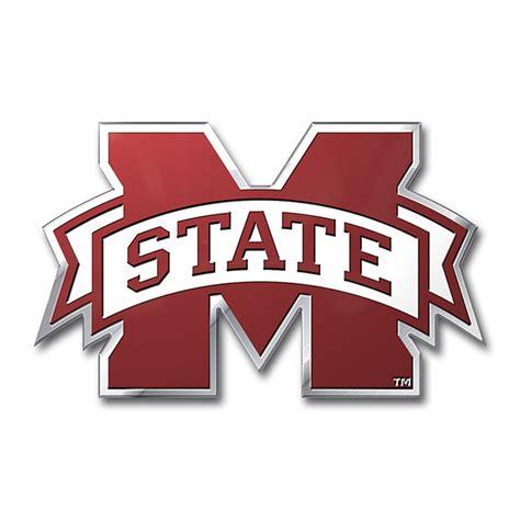 mississippi state colors mississippi state bulldogs color emblem car or truck