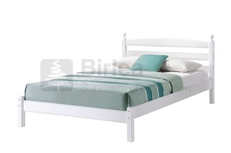 White Wooden Bed Frames Uk Birlea Oslo 4ft6 White Wooden Bed Frame By Birlea