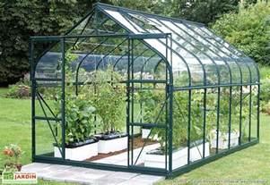 serre de jardin en verre laqu 233 vert merkur 8300 rupestris