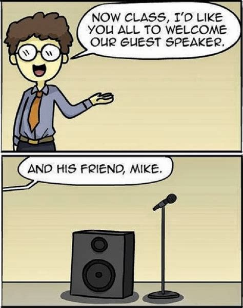 Guest Speaker Mike Pun Cartoon ~ Funny Joke Pictures