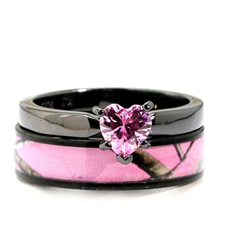 black plated pink camo titanium and sterling silver