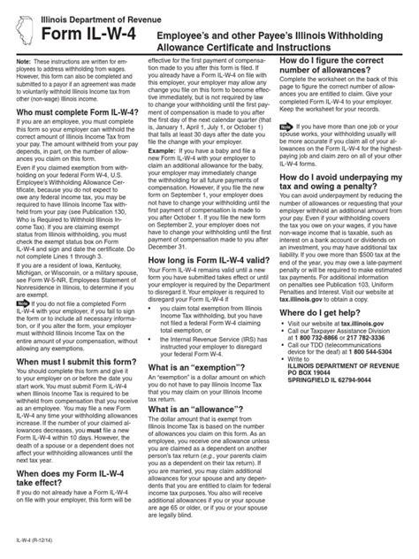 Nc 4 Allowance Worksheet by Uncategorized Illinois Withholding Allowance Worksheet