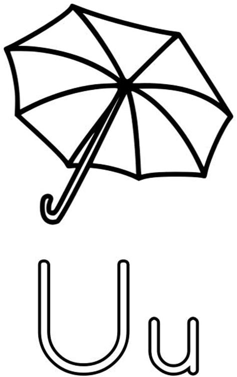 Letter U Coloring Page For Toddlers by The Letter U Coloring Page For Free Printable Picture