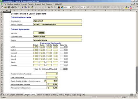dati immagini gratis calcolo della busta paga da orario di lavoro in excel