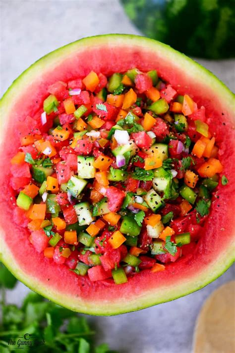 watermelon recipe watermelon salsa recipe the gunny sack