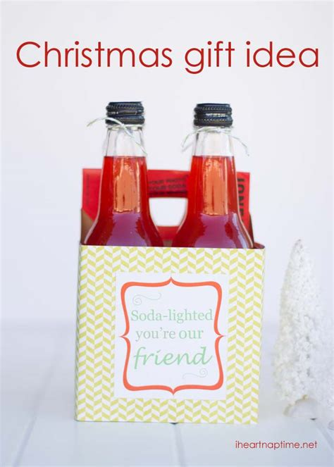 soda lighted neighbor gift idea w free printable i