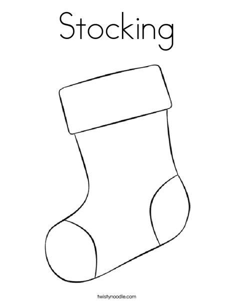 coloring pages for christmas stocking stocking coloring page twisty noodle