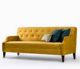 Brown Leather Chaise Lounge Chair Modern Tufted Couch With Yellow Color And Wooden Legs For