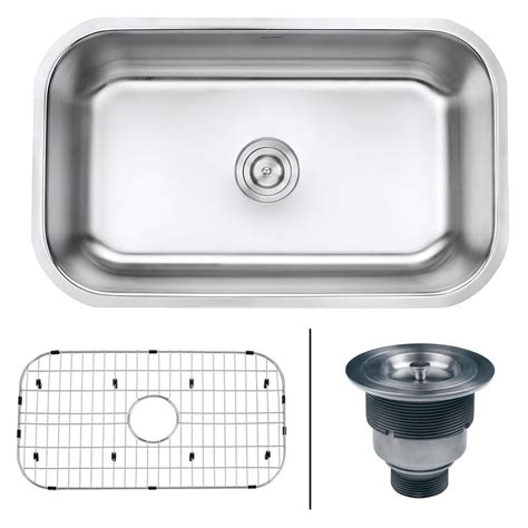 16 stainless steel sink ruvati 30 in single bowl undermount 16 stainless