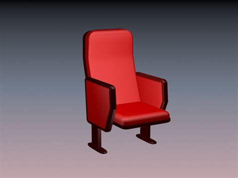 Auditorium Chair 3d Model Free theater chair 3d model 3dsmax files free