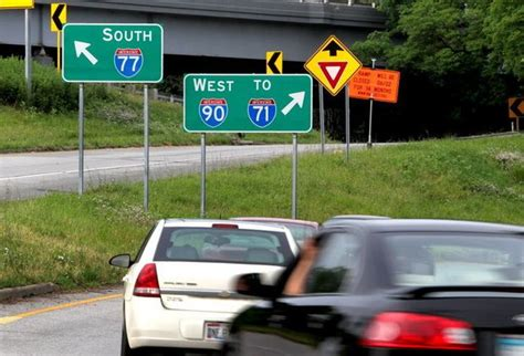 the plain dealer metro section construction will close section of interstate 77 in