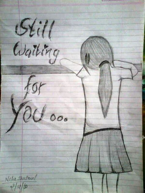 Miss U Sketches by Pictures Pencil Sketch For Miss U Drawing Artist