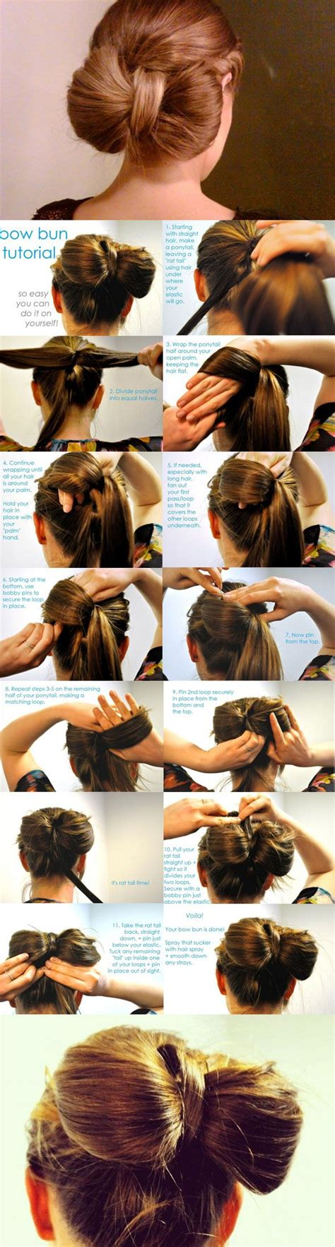 diy hairstyles bow diy bow bun