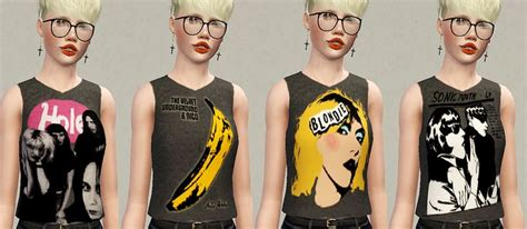 Sonic Youth Glitch sims 3 band tshirts smiths sonic youth blondie and more