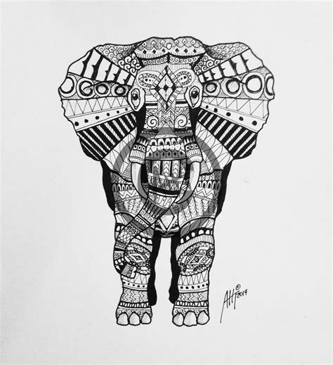 aht indian elephant indian elephant design pattern maori