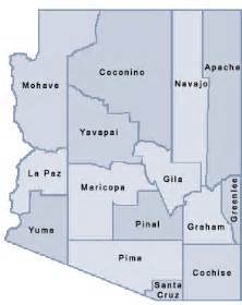 map of arizona by county the emergency food assistance program tefap locations