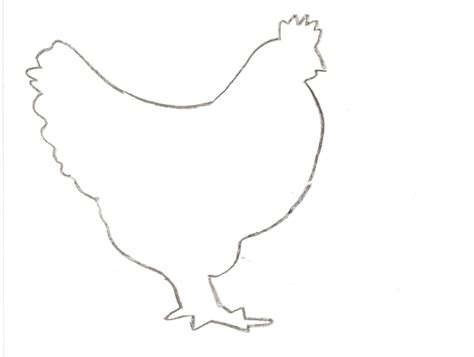 chicken drawing outline at getdrawings com free for personal use chicken outline az coloring pages