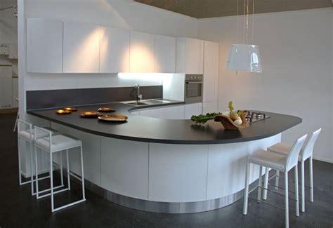 penisole in cucina cucina con penisola curva come progettarla cucina