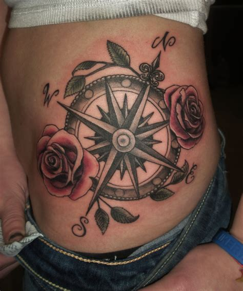 tattoo ideas with roses compass tattoos designs ideas and meaning tattoos for you