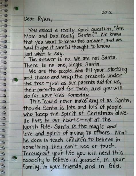 mom  dad  santa letter  explanation   parent   child  written