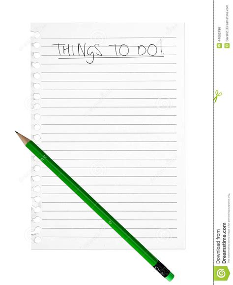 Things To Make With A Sheet Of Paper - things to do list background green pencil white
