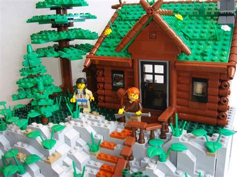 Log Cabin Design Moc Rocky Mountain Log Cabin Lego Historic Themes
