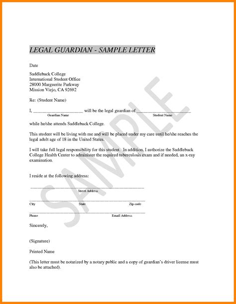 Proof Of Guardianship Letter 11 Guardian Certificate Format Sephora Resume