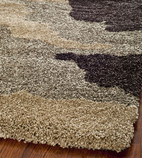 Power Loomed Ultimate Beige Multi Shag Area Rug 8 X 10 8 Shag Rug