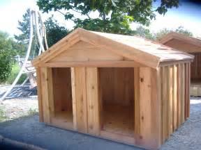 Large wooden dog house custom ac heated insulated dog house