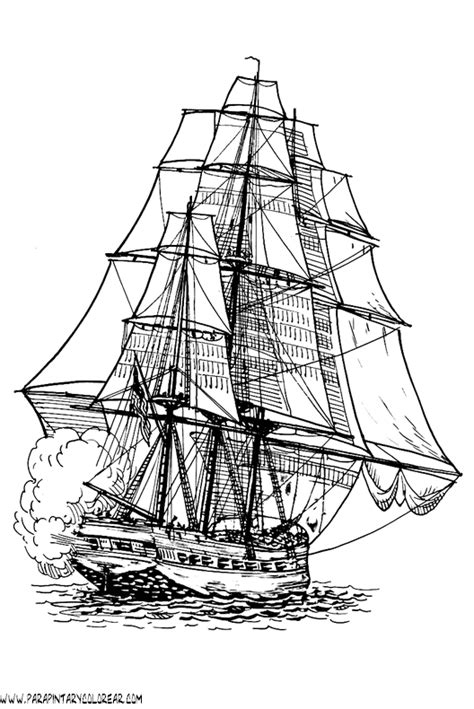 barco guerra dibujo dibujos para colorear de barcos con velas 064