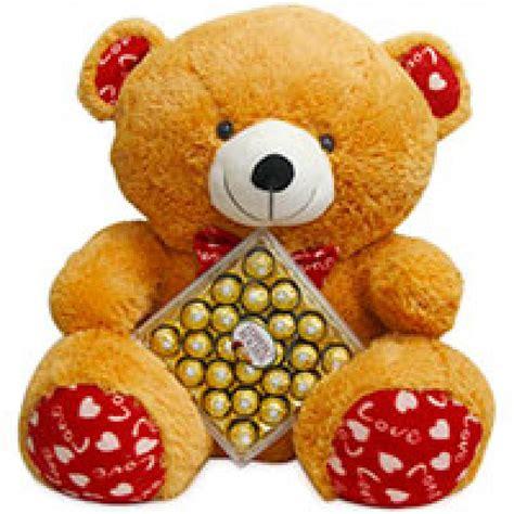 ferrero rocher valentines day 3 height big teddy with box of 24 pcs ferrero