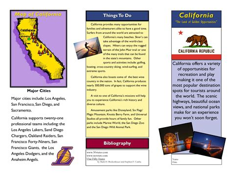 travel brochure template free tourist leaflet sample example of