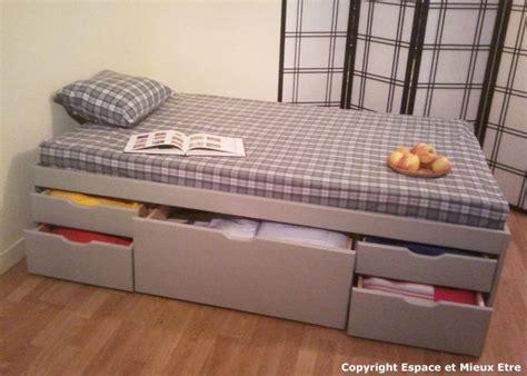 lit avec tiroirs
