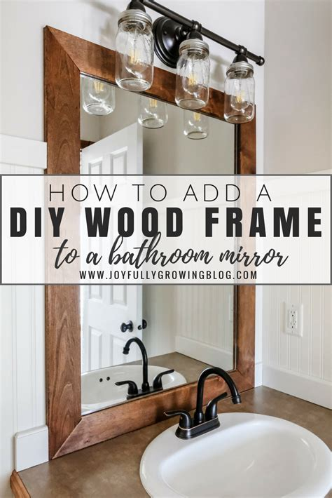 diy wood frame for bathroom mirror car design today