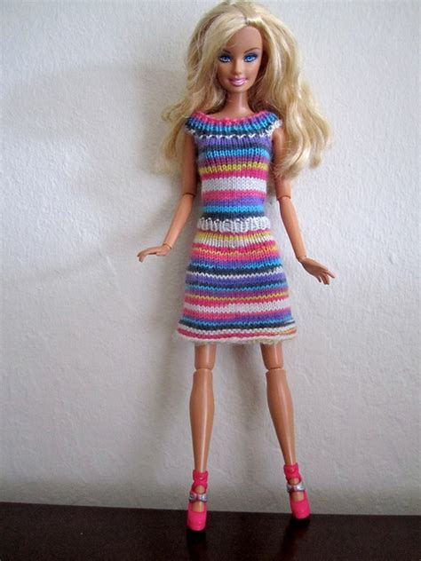 Biebie Knit dress pattern make grandmother used to knit dresses from my barbies diy knitty