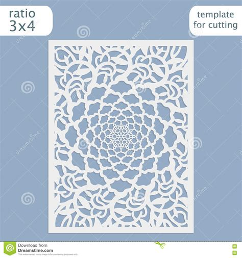 Cut Out Card Templates Free by Vector Lace Vector Illustration Cartoondealer 4457426