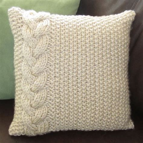 cable cushion cover knitting pattern braided cable chunky knit pillow cover sewing