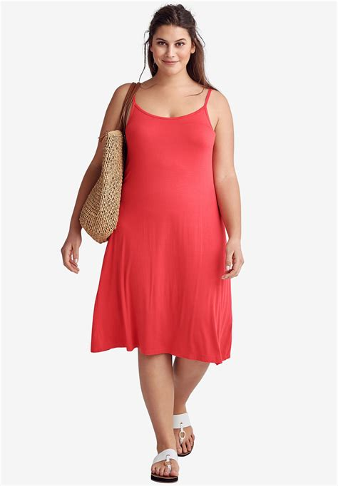 Within Tank Dress by Tank A Line Dress By Ellos 174 Plus Size Casual Dresses Within