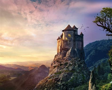 wallpaper castle hd  creative graphics