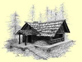 Cabin Drawings Old Log Cabins Winter Old Log Cabin Drawings Drawings Of