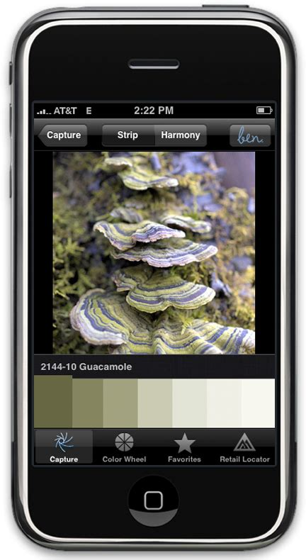 benjamin launches color paint matching iphone app ben color capture popsugar tech