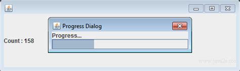 java swing modal dialog java tutorial create a modal progress dialog with