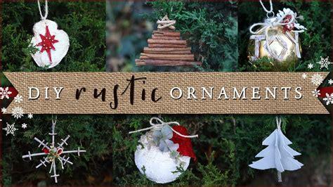 diy rustic christmas tree ornaments youtube