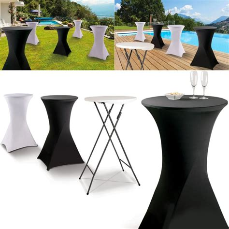 table mange debout but housse blanche pour table haute pliante mange debout